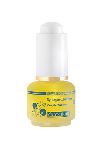 camphor synergy glass bottle centella