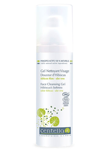 centella cleansing gel hibiscus white bottle plastic