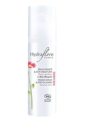 hydraflore firming serum white bottle product