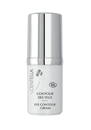 centella lift eye contour white bottle silver lid
