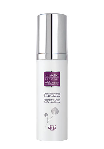 stem cell regenerative cream white bottle product purple label