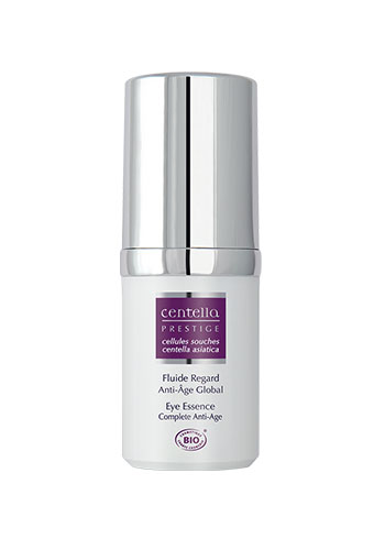 stem cell centella eye cream essence white purple plastic bottle