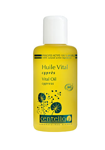 centella vital oil glass bottle yellow oil liquid